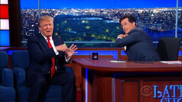 The Late Show with Stephen Colbert - S01E11 - Donald Trump, Dr. Ernest Moniz, Raury