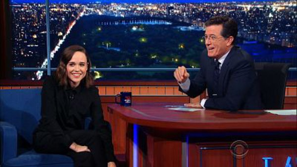 The Late Show with Stephen Colbert - S01E16 - Ellen Page, Jesse Eisenberg, Dominic Wilcox