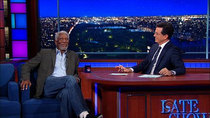 The Late Show with Stephen Colbert - Episode 19 - Morgan Freeman, Ruth Wilson, Sean Murray