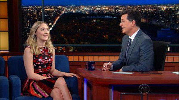 The Late Show with Stephen Colbert - S01E69 - Saoirse Ronan, Jeremy Stoppelman, Laura Ricciardi & Moira Demos, James Bay