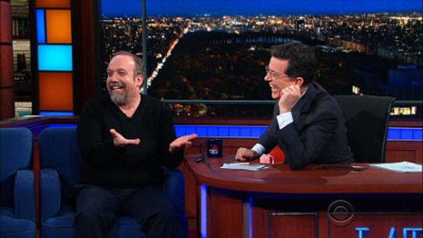 The Late Show with Stephen Colbert - S01E70 - Paul Giamatti, Guerrilla Girls, J.B. Mauney