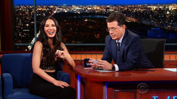 The Late Show with Stephen Colbert - S01E71 - Olivia Munn, T.J. Miller, Father John Misty