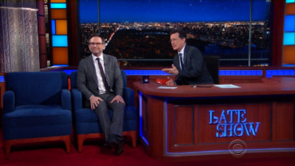 The Late Show with Stephen Colbert - S01E76 - Christian Slater, Josh Radnor, Iggy Pop