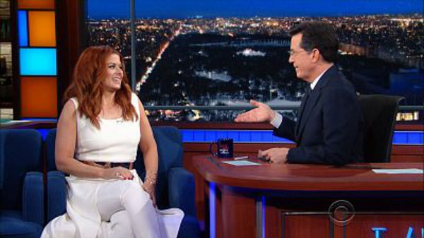 The Late Show with Stephen Colbert - S01E98 - Debra Messing, Zachary Quinto, Violent Femmes