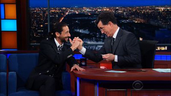 The Late Show with Stephen Colbert - S01E99 - Adrien Brody, Danai Gurira, Brian Greene