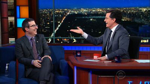 The Late Show with Stephen Colbert - S01E110 - John Oliver, Jordan Spieth, New Order