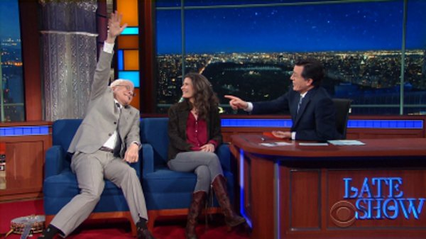 The Late Show with Stephen Colbert - S01E111 - Steve Martin & Edie Brickell, Shirley MacLaine, Gustavo Dudamel