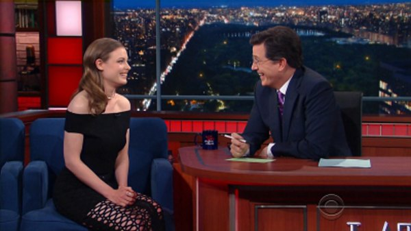 The Late Show with Stephen Colbert - S01E145 - Josh Gad, Gillian Jacobs, Band of Horses