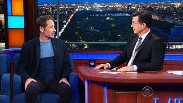 The Late Show with Stephen Colbert - S01E157 - David Duchovny, Aaron Tveit, Alexander Koblikov