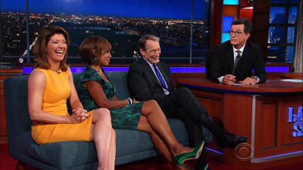 The Late Show with Stephen Colbert - S01E177 - Charlie Rose, Gayle King, Norah O'Donnell, DeRay Mckesson, Bonnie McFarlane