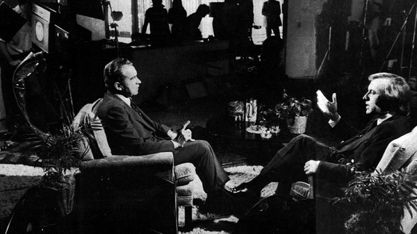 richard nixon and david frost Strange, how a man once so reviled has gained stature in the memory how we cheered when richard m nixon resigned the presidency how dramatic it was when david frost cornered him on tv and presided over the humiliating confession that he had stonewalled for three years and yet how much more intelligent, thoughtful and, well, presidential.