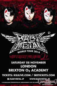 Babymetal - Live at Academy Brixton: World Tour 2014